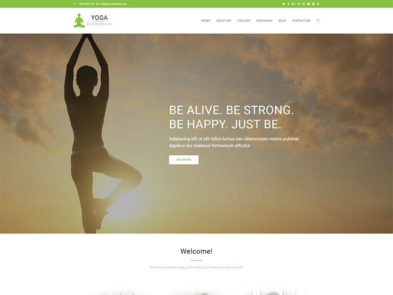 Yoga – 运动户外模板WordPress主题