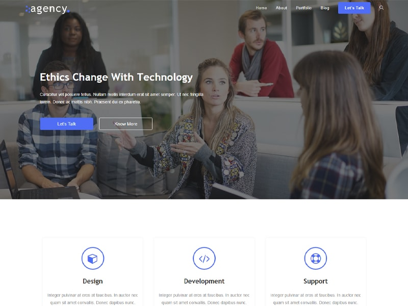 Agency2 – 互联网行业模板WordPress主题