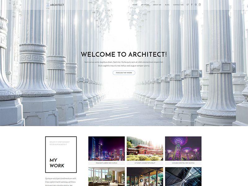 Architect – 家具建材模板WordPress主题