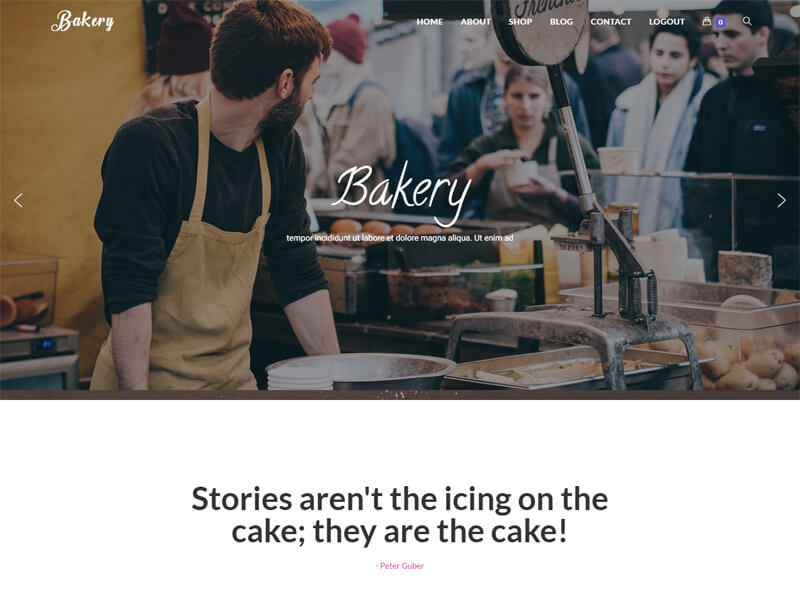 Bakery – 食品茶饮模板WordPress主题