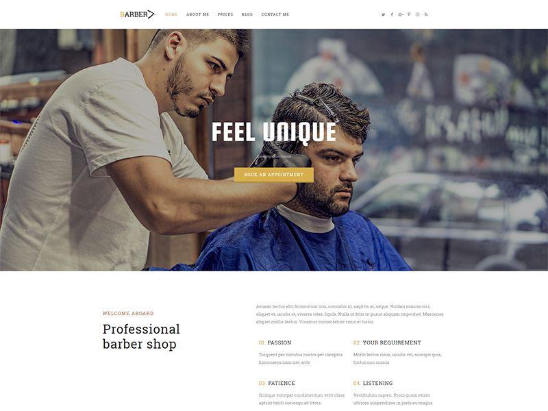 Barber – 化妆美容模板WordPress主题