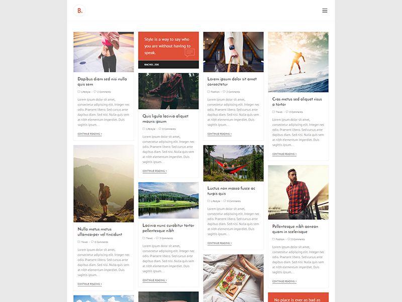 Blogger – 自媒体模板WordPress主题