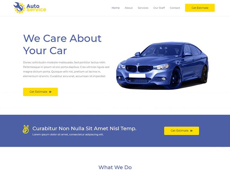 Car Repair – 汽车行业模板WordPress主题