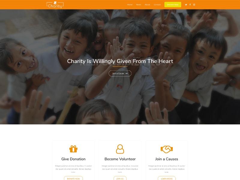 Charity2 – 服务机构模板WordPress主题