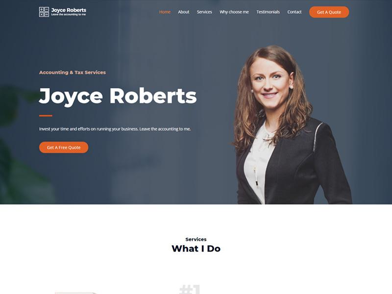 Accountant – 服务机构模板WordPress主题