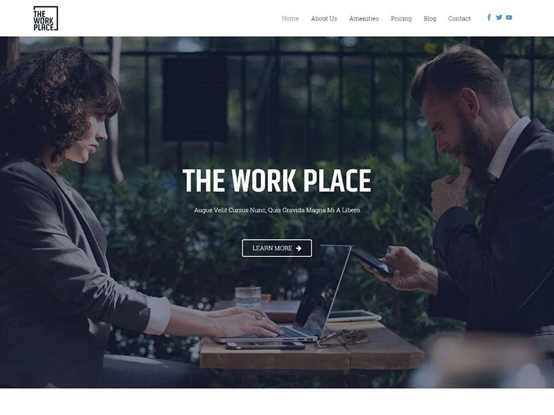 Co-Working Space – 互联网模板WordPress主题