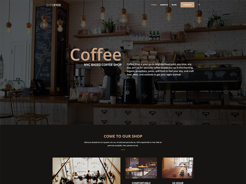 Coffee – 食品茶饮模板WordPress主题