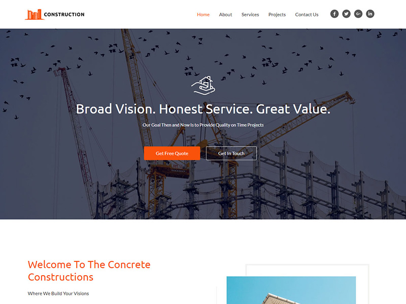 Construction – 家具建材模板WordPress主题