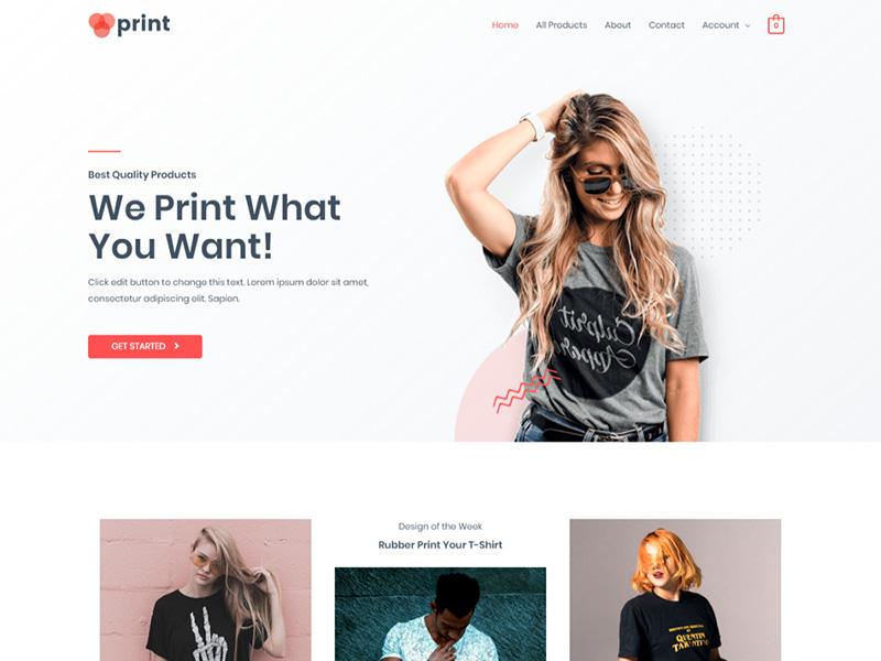 Custom Printing – 服务机构模板WordPress主题