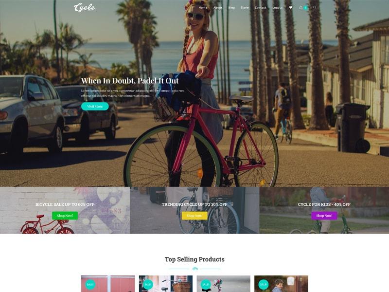 Cycle – 运动户外模板WordPress主题