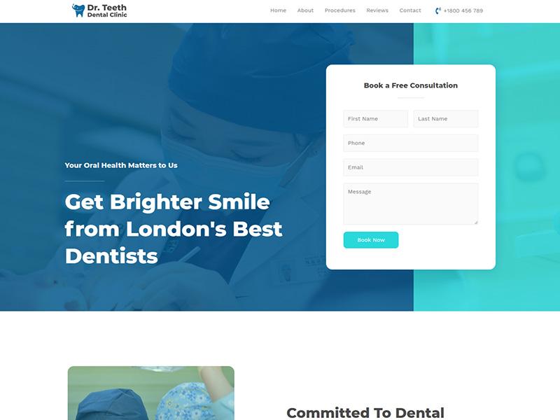 Dentist Clinic – 医疗保健模板WordPress主题