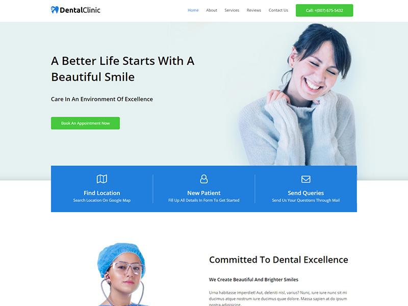 Dentist – 医疗保健模板WordPress主题