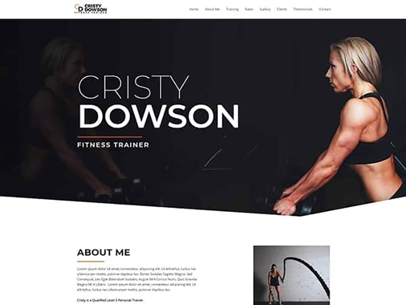Personal Fitness Trainer – 运动户外模板WordPress主题