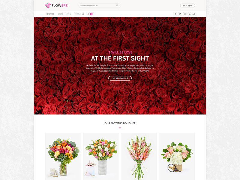 Flowers – 鲜花园艺模板WordPress主题