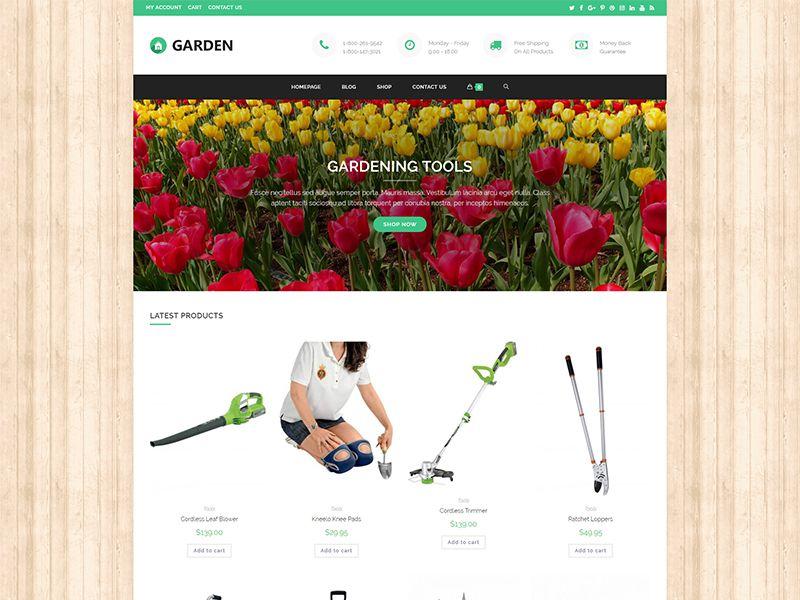 Garden2 – 鲜花园艺模板WordPress主题