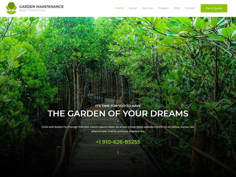 Garden Maintenance – 鲜花园艺模板WordPress主题