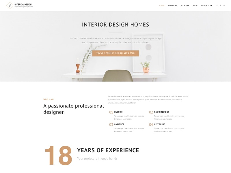 Interior2 – 家具建材模板WordPress主题