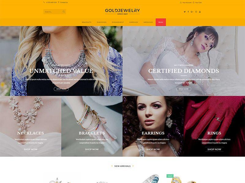 Jewelry – 珠宝饰品模板WordPress主题