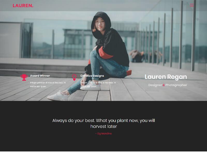 Lauren – 自媒体模板WordPress主题