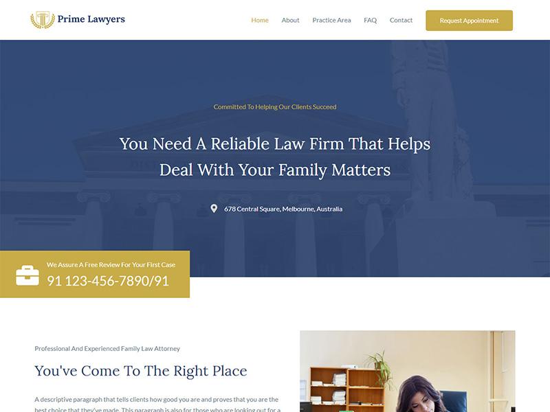 Lawyer2 – 律师行业模板WordPress主题