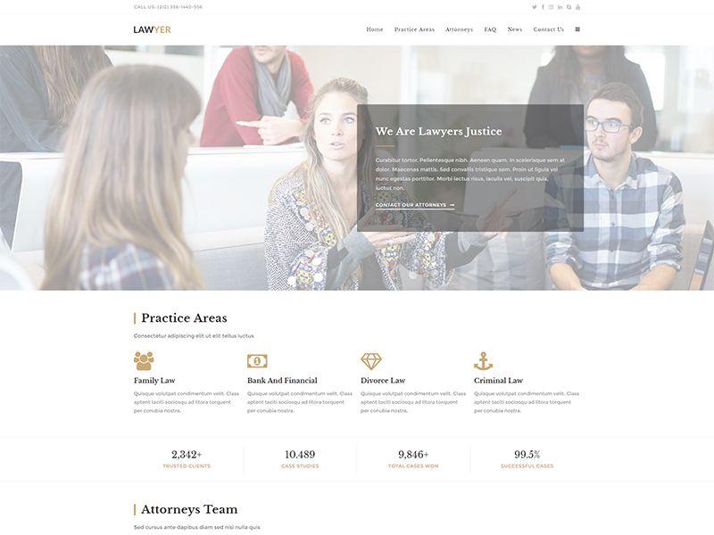 Lawyer – 律师行业模板WordPress主题