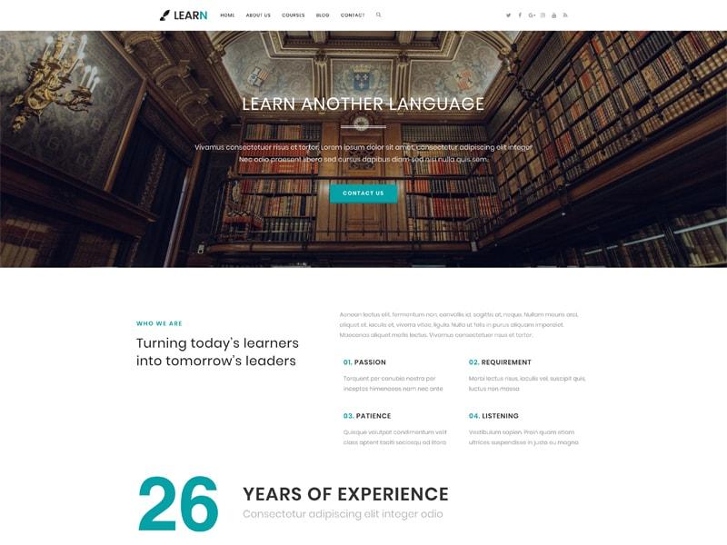 Learn – 教育培训模板WordPress主题