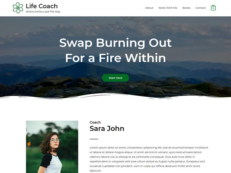 Life Coach – 教育培训模板WordPress主题