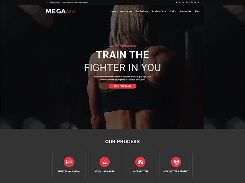 Megagym – 运动户外模板WordPress主题