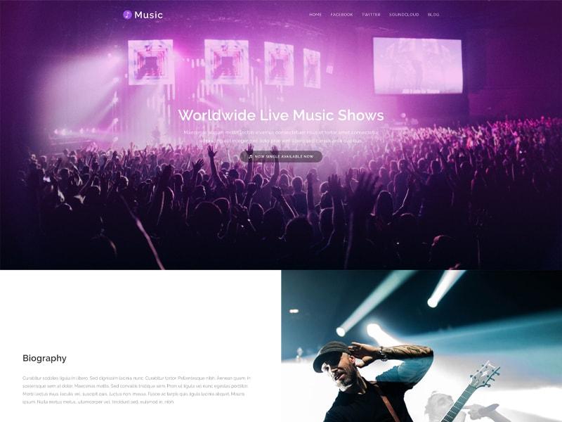 Music – 音像书籍模板WordPress主题