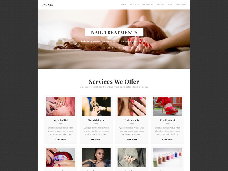 Nails – 化妆美容模板WordPress主题