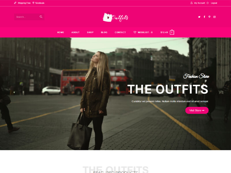 Outfits – 服装行业模板WordPress主题