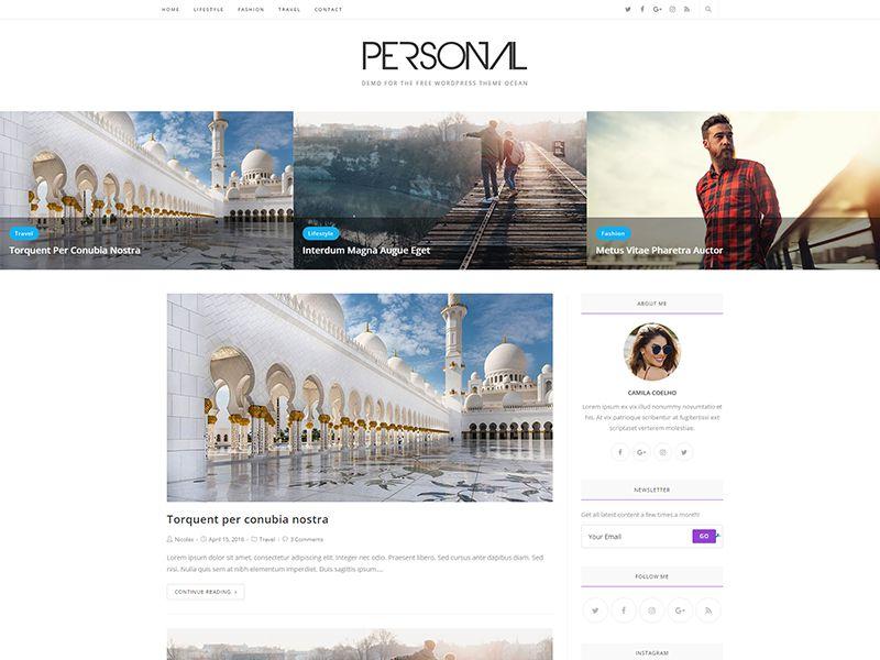 Personal – 自媒体模板WordPress主题