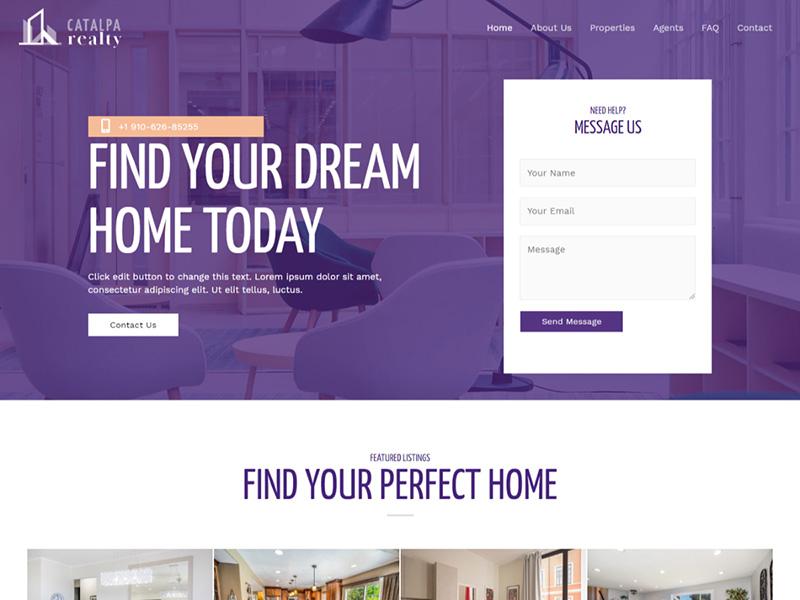 Real Estate – 房地产行业模板WordPress主题