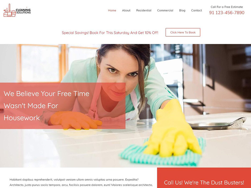 Cleaning Services – 服务机构模板WordPress主题