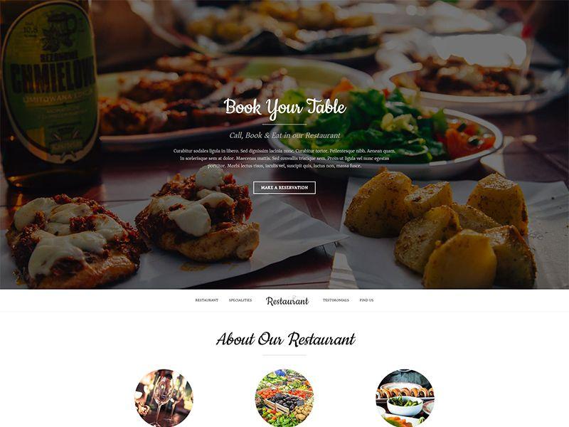 Restaurant – 酒店旅游模板WordPress主题