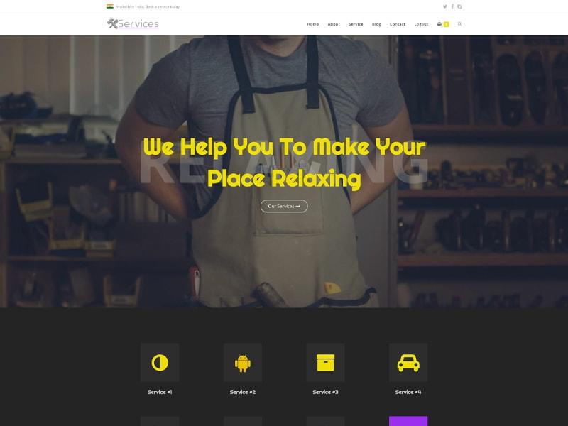 Service – 服务行业模板WordPress主题