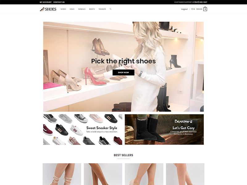 Shoes – 鞋类模板WordPress主题