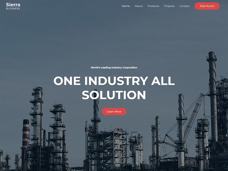 Sierra Industry – 工厂实业模板WordPress主题