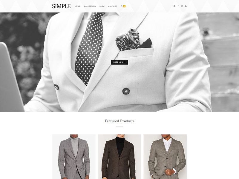 Simple – 服装行业模板WordPress主题