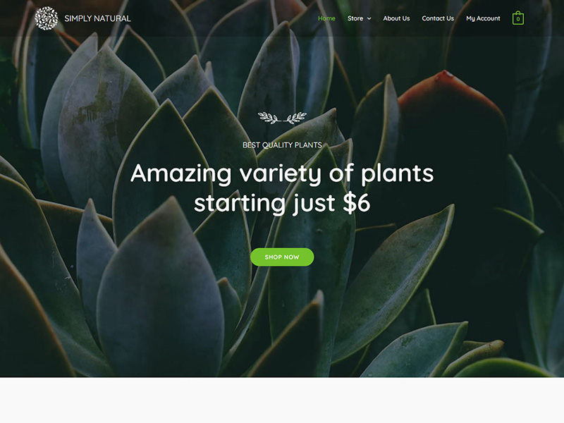 Simply Natural – 鲜花园艺模板WordPress主题