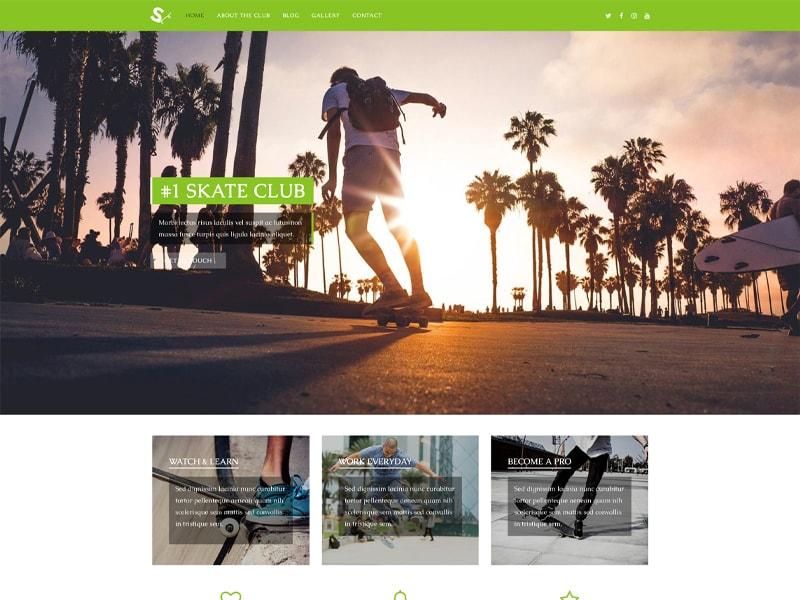 Skate – 运动户外模板WordPress主题