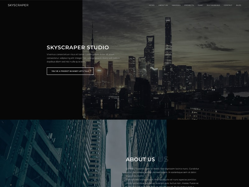 Skyscraper – 家具建材模板WordPress主题