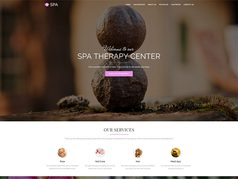Spa – 医疗保健模板WordPress主题