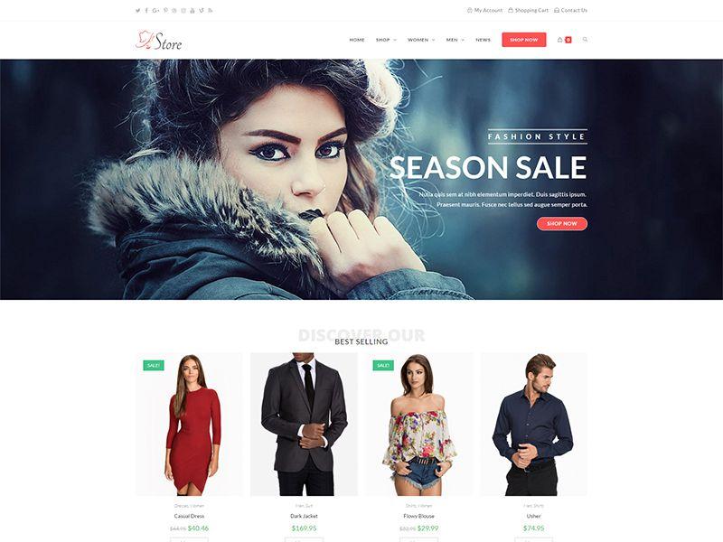 Store – 服装行业模板WordPress主题
