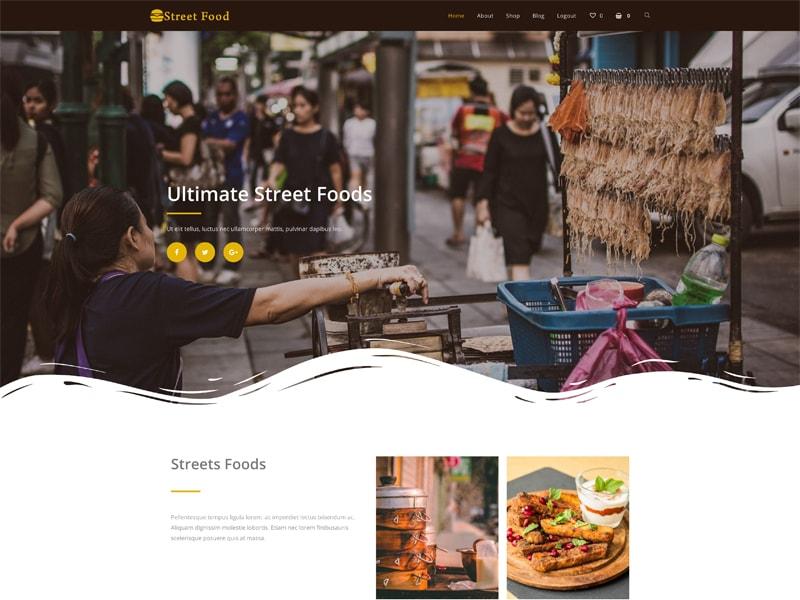 Streetfood – 食品茶饮模板WordPress主题