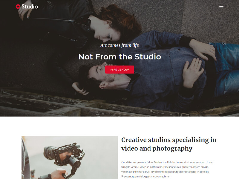 Studio – 工作室模板WordPress主题