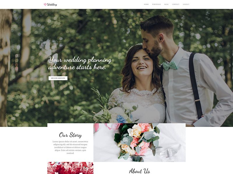 Wedding2 – 婚庆模板WordPress主题